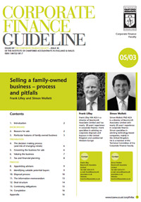 Guidelines - Selling a Family Business